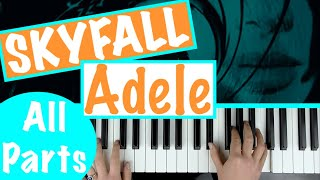 """How to play """"SKYFALL"""" - Adele 