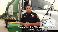 Rowlett changes to Waste Management - October 1, 2012