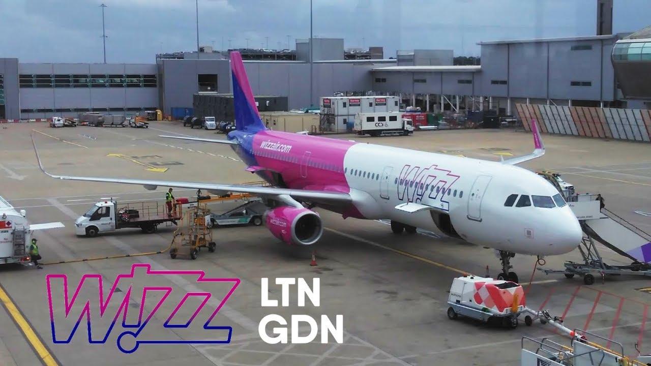 Trip Report Wizz Air Airbus A321 London Luton Gdansk W6 1610 Ha Lxj Youtube