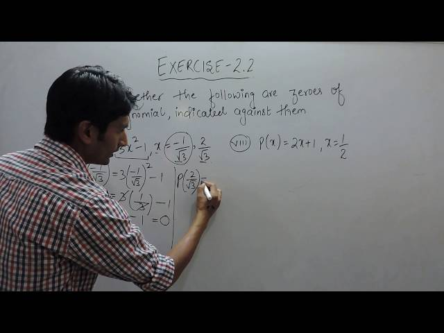 Exercise 2.2 - Question 3(vii,viii) NCERT/CBSE Solution for Class 9th Maths Polynomials