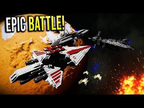 Breaking the DROID BLOCKADE! - Star Wars EPIC Battle - Space Engineers!