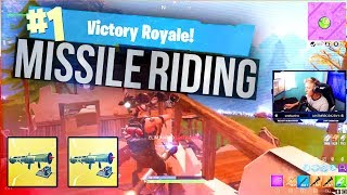 MISSILE RIDING! - Tfue Fortnite Twitch Highlights #5