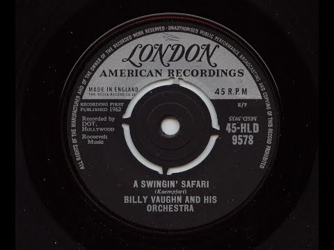 Billy Vaughn And His Orchestra 'A Swingin' Safari' 45 rpm