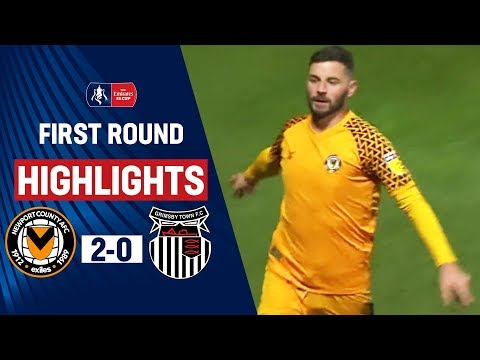 Amond Continues Fine FA Cup Form! | Newport County 2-0 Grimsby Town | Emirates FA Cup 19/20