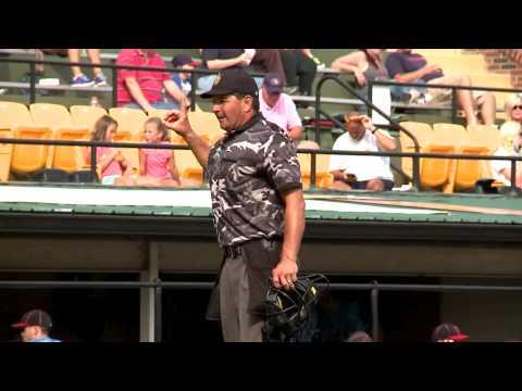 Umpire Mark Mayle Mic