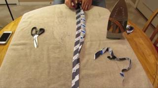 How to make a skinny tie from a fat tie