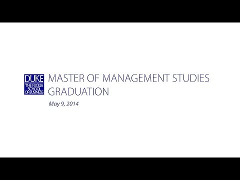 Master of Management Studies Graduation 2014