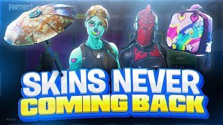 These Skins Are NEVER Coming Back! RARE FORTNITE SKINS!