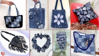 Old Jeans Reuse Craft Ideas !!! DIY Old Clothes || Best Out of Waste