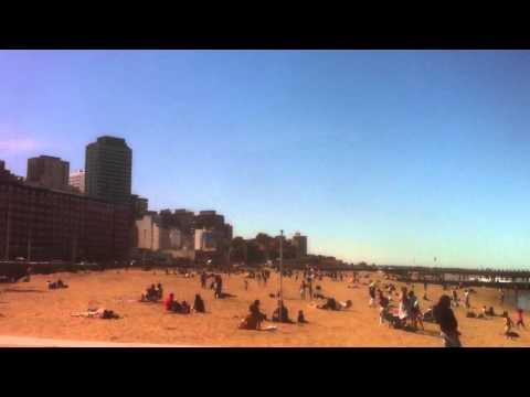The Beach at Mar Del Plata, Argentina