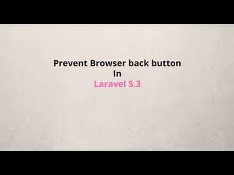 Laravel5 3 - Prevent Browser's Back Button Login After Logout