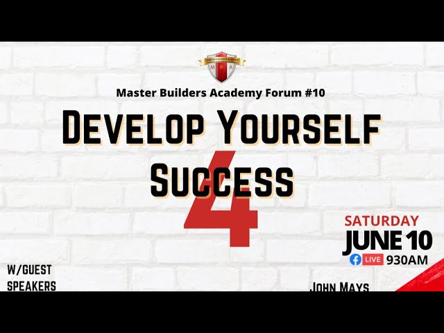 Develop Yourself for Success
