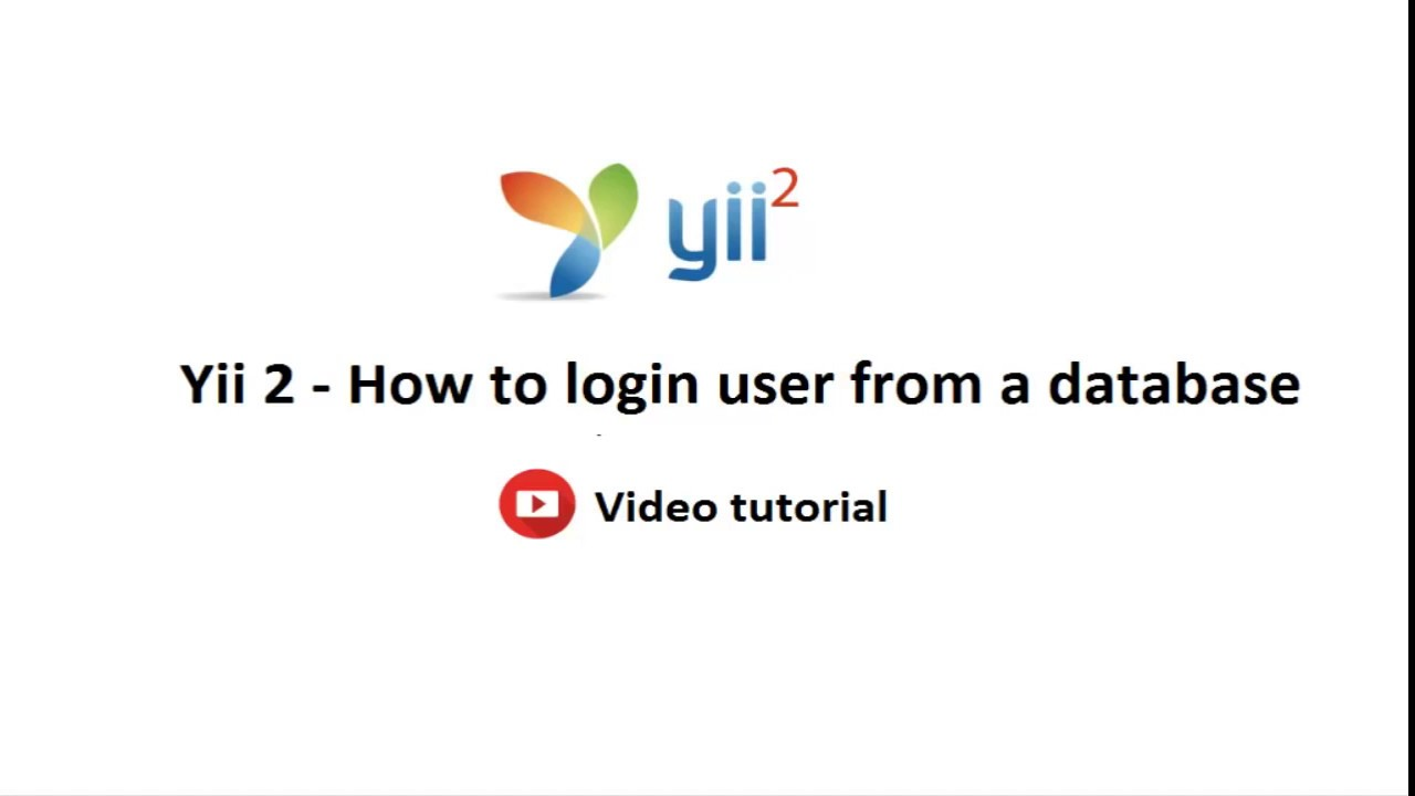 How to login user from a database in Yii Framework 2 | Code