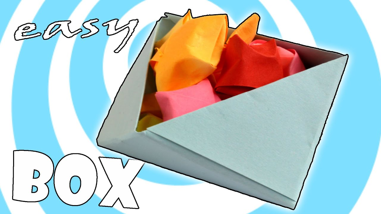 Diy Easy Paper Origami Box Instructions Youtube