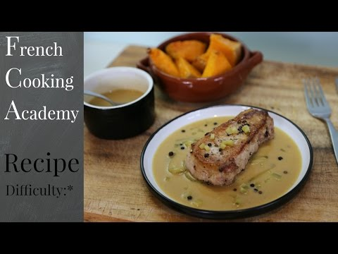 Pork Chop With Creamy Mustard & Gherkins Sauce | French Bistro Recipes