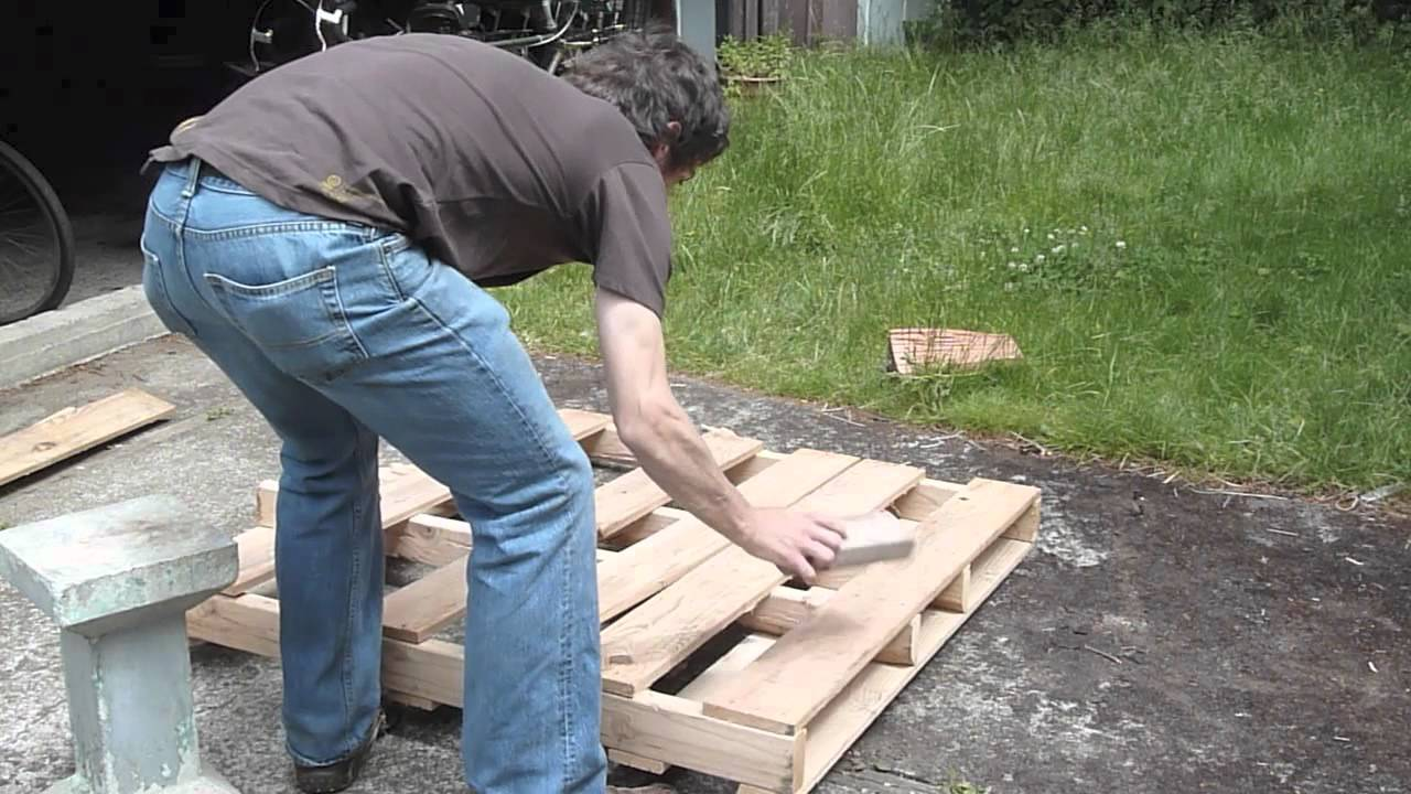Completely new How to dismantle a pallet without splitting it, without special  FR88