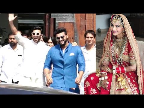 LIVE Ranveer Singh & Arjun Kapoor's GRAND ENTRY At Sonam Kapoor's Wedding Mandap