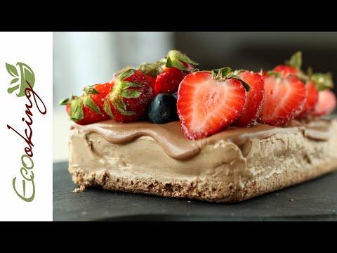 Шоколадный торт-мороженое (на зеленой гречке) / vegan