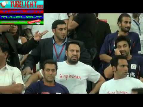 Pakistani and Indian Celebrities together cricket  match in dubai with salman khan