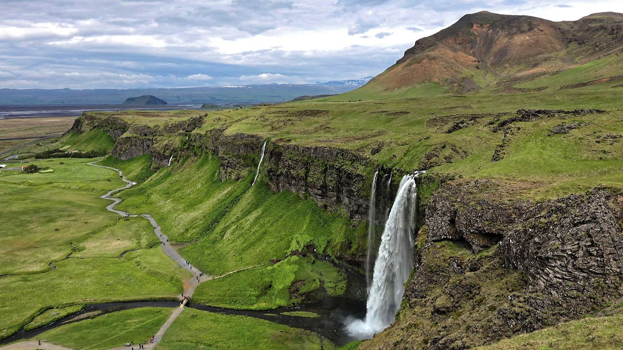 Wallpaper Falling Water Seljalandsfoss Iceland In 4k Ultra Hd Youtube