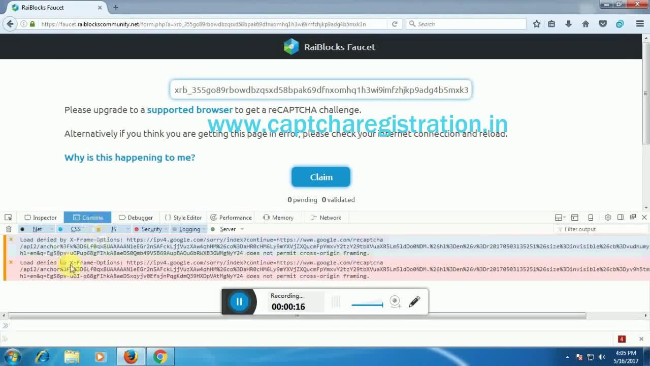 recaptcha loading problem || how solverecaptcha loading error (in firefox)