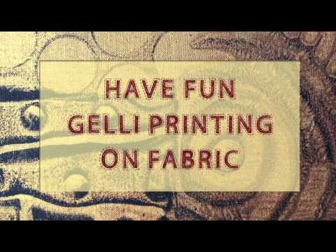Gelli Arts® Printing on Fabric!