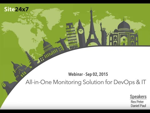 Site24x7 Webinar - The All-in-One Cloud Monitoring Tool for DevOps and IT