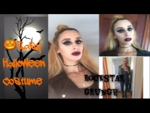 Easy Halloween Costume | Rockstar Grunge | Makeup, Hair & Outfit