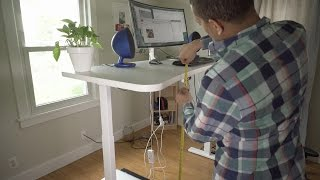 UpDesk PowerUp standing desk unboxing and setup!