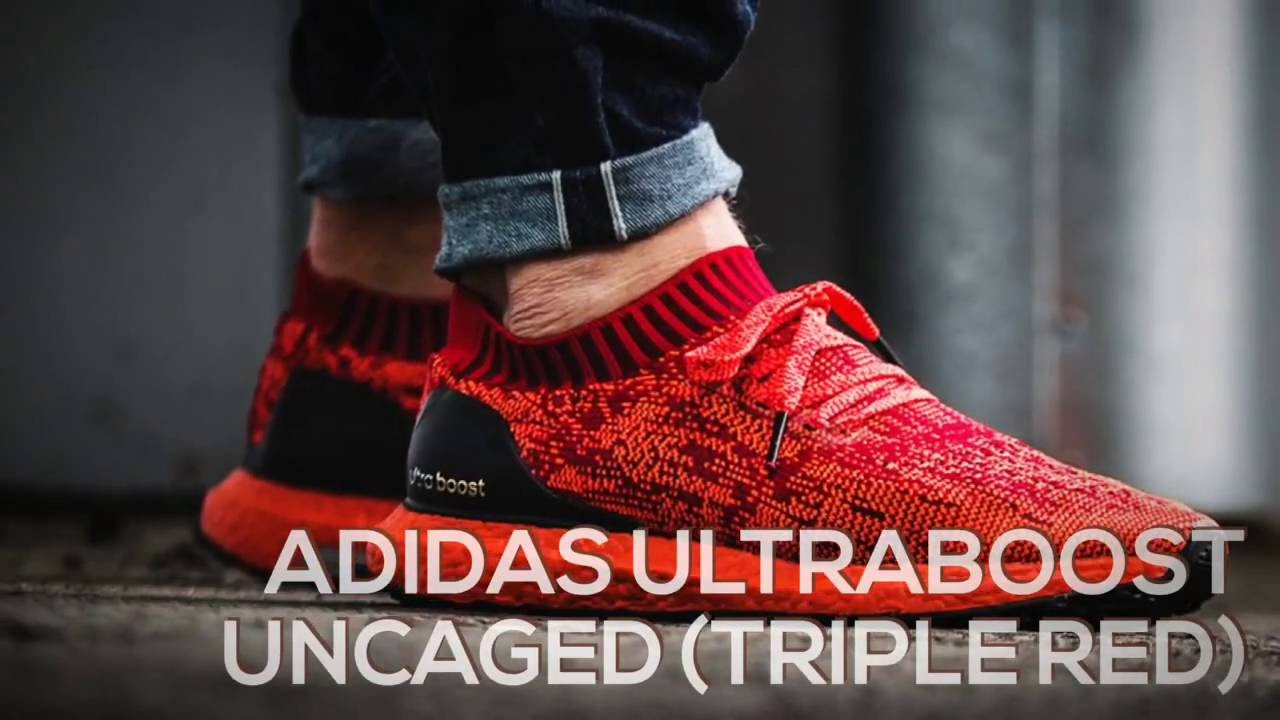 1b747240c ADIDAS ULTRABOOST UNCAGED (TRIPLE RED)   PEACE X9 - YouTube