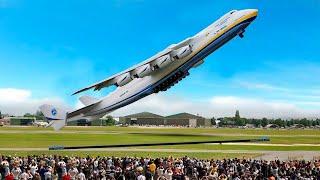 Захватывающий Взлет и Посадка Самого Большого Самолета в Мире AN225 A380 BOEING 737