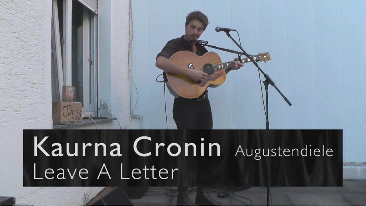 Kaurna Cronin Leave A Letter Wohnzimmerkonzert Augustendiele