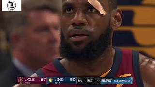 Victor Oladipo DUNKS ALL OVER  LeBron James  Game 6 Cavs vs Pacers 27Apr2018