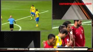 Ronaldo und Ibrahimović: 5 Tore und Ihre Reaktionen