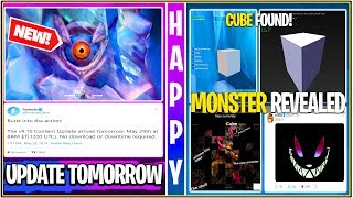 * NOVO * Fortnite: Burst SMG amanhã, MONSTER EYE em POLAR, cubo encontrado, Fortnite Hacked? E vazamento de eventos!