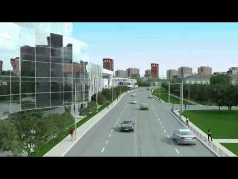 3D Animated Flythrough of Industrial/Commercial Park in Moscow