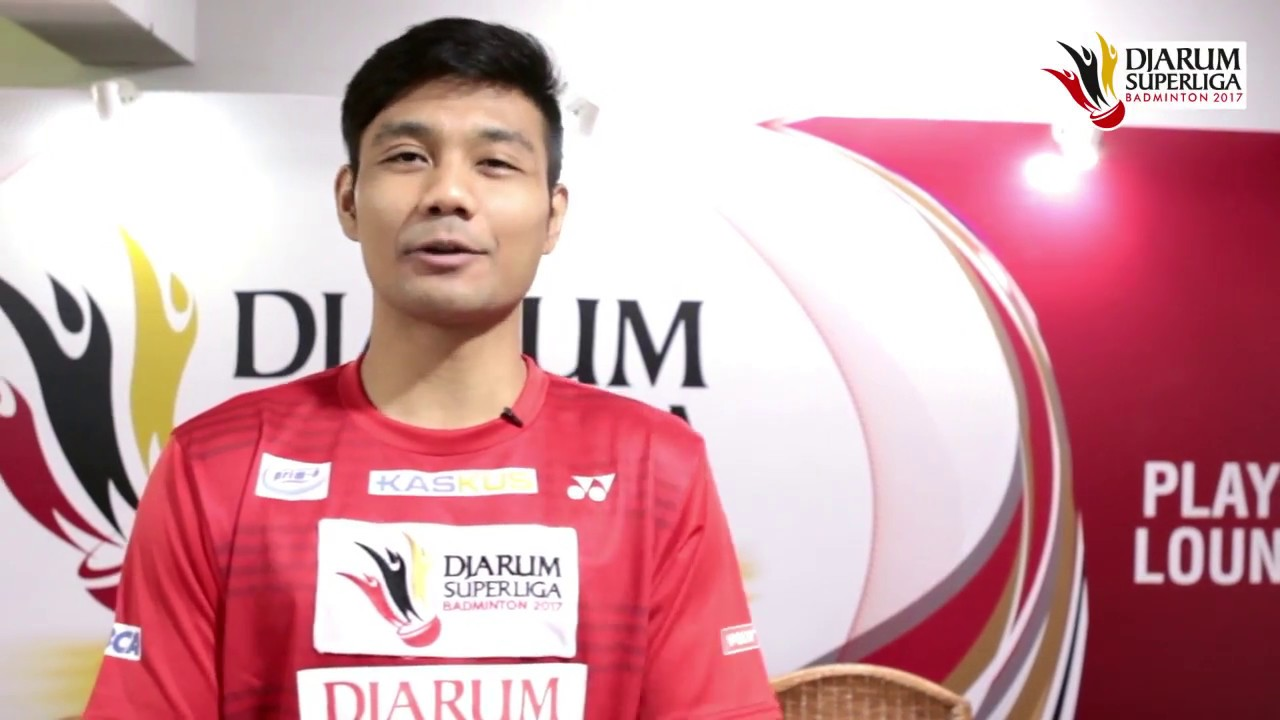 Berry Angriawan at Player s Lounge Djarum Superliga Badminton 2017