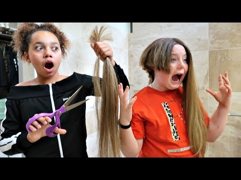 TIANA CUT MY HAIR OFF!!