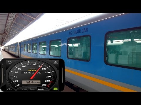 160 Kph Tornado ride onboard Gatimaan Express - Indian Fastest Train