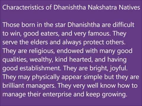 Dhanishtha Nakshatra Characteristics