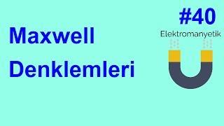 Elektromanyetik Teori Soru Çözümü 40 Maxwell Denklemleri - Maxwell Equations