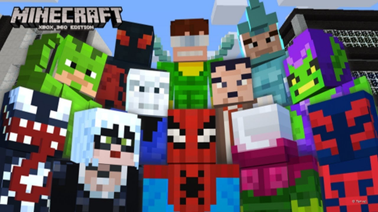 Minecraft Xbox PS MARVEL SPIDERMAN SKIN PACK - Minecraft skins fur die ps3