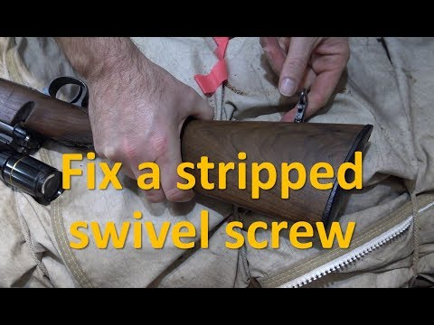 Fix a stripped sling swivel screw
