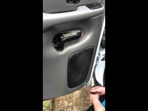 How To Remove A 2006 Chevrolet Tahoe Rear Door Panel Youtube