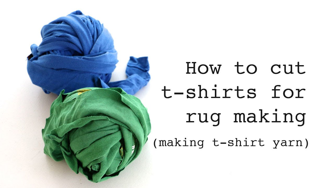 How To Cut T Shirts For Rug Making Making T Shirt Yarn Youtube