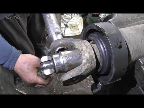 Как заменить подвесной подшипник на ваз 2107 видео