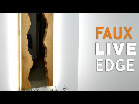 Making a FAKE live edge Mirror with a HIGH-END Look