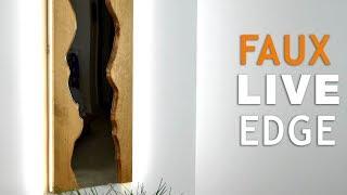 DIY Faux Live Edge Mirror