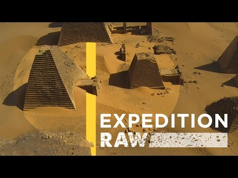 Amazing Drone Footage of Nubian Pyramids | Expedition Raw