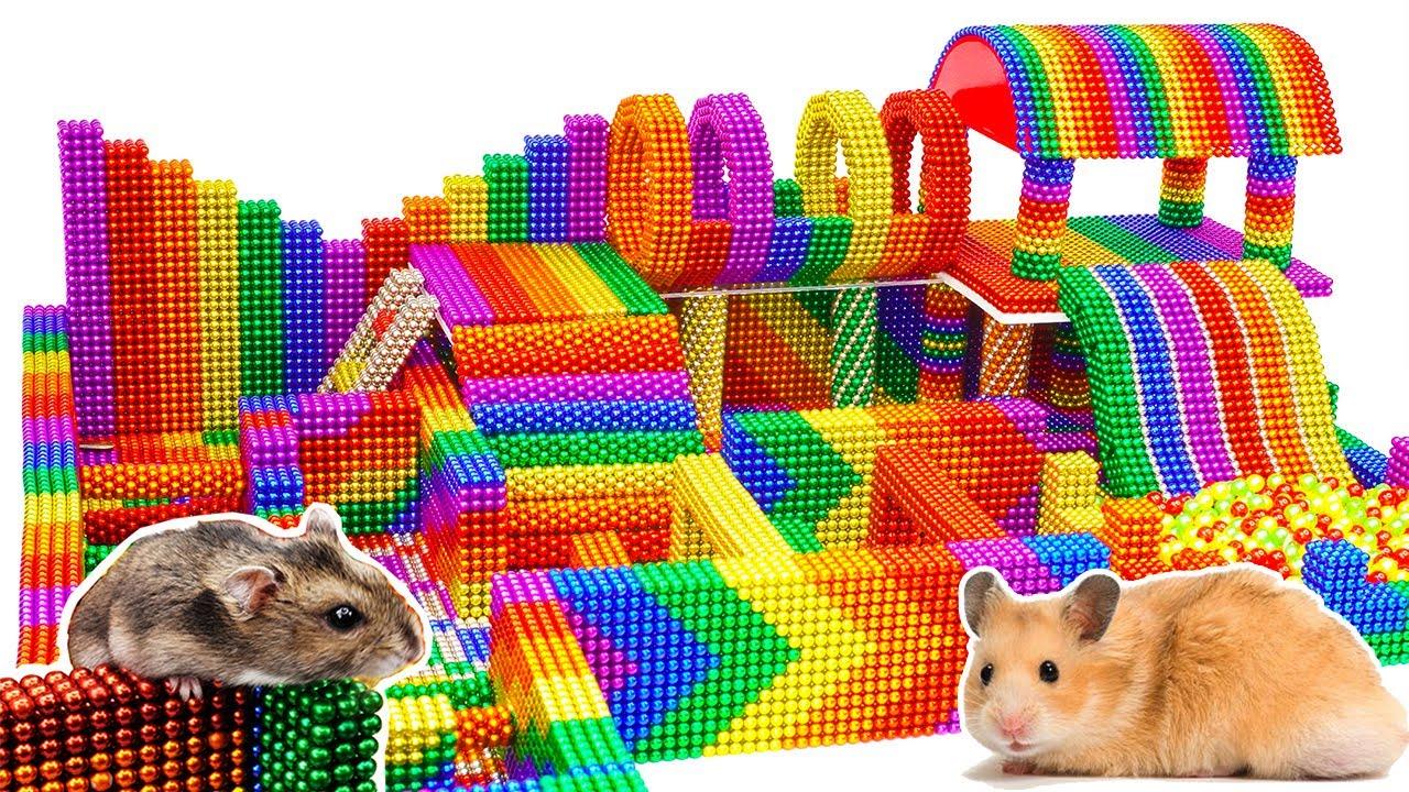 DIY - How To Make Multi Level Maze For Hamster From Magnetic Balls (Satisfying) - Magnet Balls